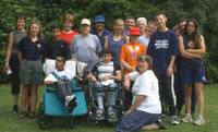 Image of group with disabled people now in focus